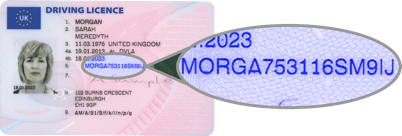 Driving Licence Image